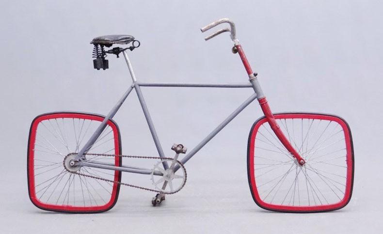 竟真的存在 Square方形车轮自行车感受下