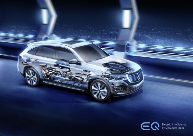 全新EQC研发的电力传动系统采用了双电机设计:前后轴各安装了一台紧凑型电机,总输出功率达到300千瓦,最大扭矩达到765牛·米,并可实现四驱车的行驶特性。这使得全新EQC不仅拥有5.1秒的百公里加速能力。